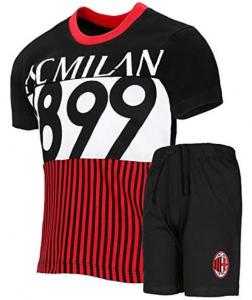 Completo T-Shirt con Pantaloncini Prodotto Ufficiale AC Milan Bambino