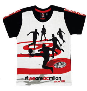 T-Shirt misure 4 6 8 10 Prodotto Ufficiale AC Milan Bambino