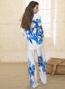 Camicia Lunga Fiore geometrico