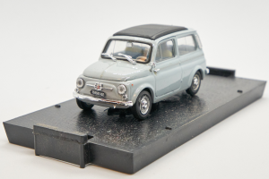 Fiat 500 Giardiniera Closed Light Grey 1960 1/43 Brumm 100% Made In Italy