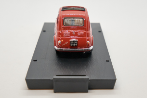 Fiat Nuova 500 Open 1959 Coral Red 1/43 Brumm 100% Made In Italy