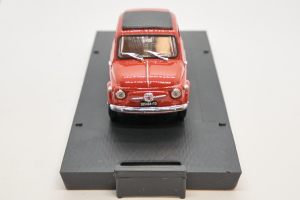 Fiat Nuova 500 1959 Coral Red 1/43 Brumm 100% Made In Italy