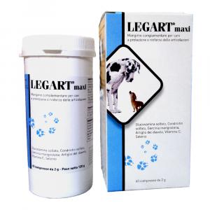 LEGART MAXI (60 cpr) – Integratore osteo-articolare per cani di taglia medio-grande