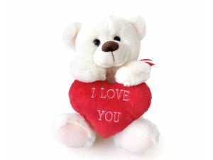 Peluche Orso con cuore Ti Amo dim. 25 colore