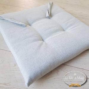 Cuscino per sedia tinta unita grigio
