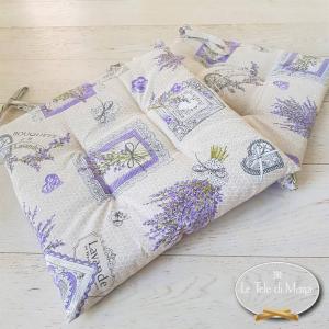 Cuscino per sedia lavanda nido d' ape