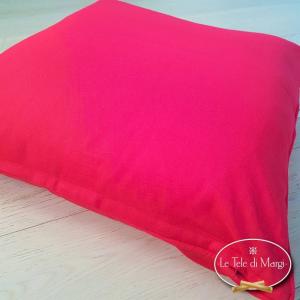 Fodera cuscino tinta unita Rosso