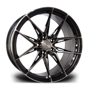 Cerchi in lega  RIVIERA  RF107  20''  Width 10   PCD Custom  ET disponibili da 15 a 45  CB 72.6    Black Polished Dark Tint