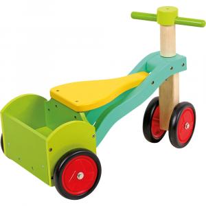 Triciclo senza pedali in legno primi passi