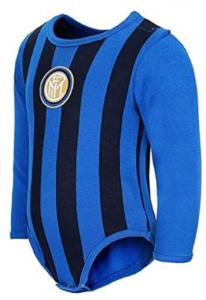 Body Inter Nero azzurro Neonato 12/36 Mesi
