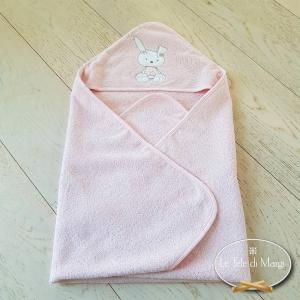 Accappatoio triangolo per bambini rosa
