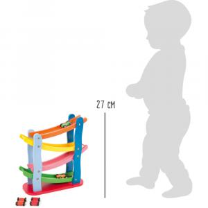 Pista torre zip zap macchinine colorata in legno