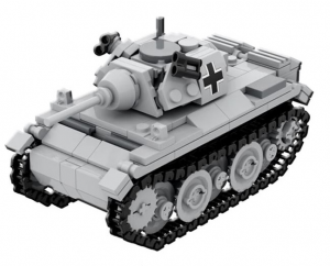 *PREORDER* WW2 Blocks: Panzer II (Panzerkampfwagen II Sd.Kfz. 121)