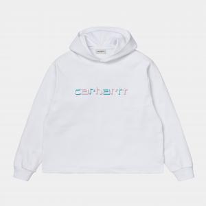Felpa Carhartt W Hooded Shadow Script Sweatshirt