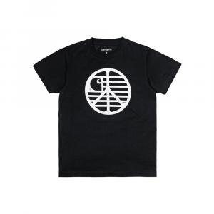 T-Shirt Carhartt Woman S/S Peace State T-Shirt (Black/White)