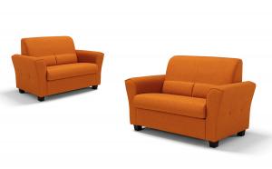 ZOIA - Piccolo divano 2 posti in tessuto tecnico antimacchia e antigraffio