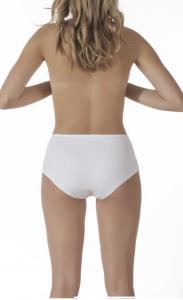 2 Slip culotte donna leggermente contenitiva in cotone e pizzo RISVEGLIA I SENSI