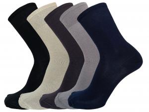 6 Paia di calzini da uomo corti in filo di Scozia FASHION TRADE