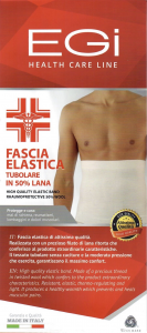 Panciera elastica tubolare unisex in lana EGI