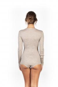 Maglia da donna in lana a costina manica lunga scollo tondo EGI