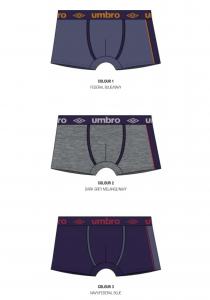 3 Boxer da uomo colorati in cotone elasticizzato UMBRO