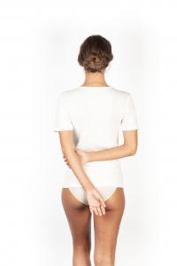 Maglia donna lana cotone manica corta scollatura liscia MA.RE.