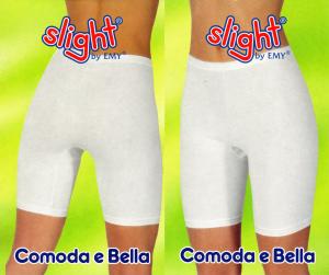 3 Mutande donna con gamba in cotone vita alta EMY