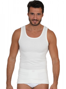 Canotta uomo in lana e cotone con spalla larga Ma.Re.