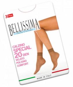 12 Paia calzino corto 20 Den velato taglia unica BELLISSIMA