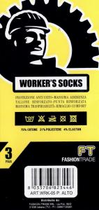 6 Paia di calzini per scarpa antinfortunistica da lavoro corti WRK