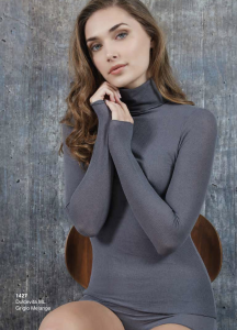 Dolcevita donna costina manica lunga cashmere ultra light SÙBLYME
