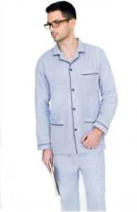Pigiama uomo in flanella di cotone con giacca aperta DIPLOMAT