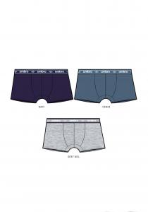 3 Boxer da bambino o ragazzo in cotone elasticizzato UMBRO