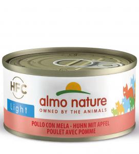 Almo Nature - HFC Cat - Adult - Light - Pollo con Mela - 70g x 6 lattine