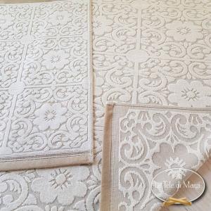 Asciugamani cotone e lino maiolica