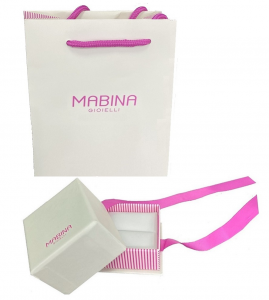 Mabina Collana Argento - Cuore pavé