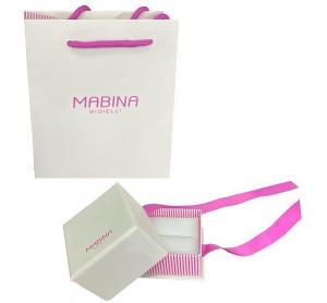 Mabina Orecchini Argento - Cuore pavé