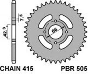 50537F CORONA TRASMISSIONE Z 37 CICLOMOTORI EPOCA PBR