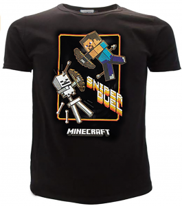 T-Shirt Minecraft Taglie da 10 a 16 Anni Estate 2021