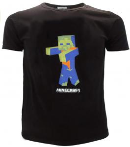 T-Shirt Minecraft Taglie da 10 a 16 Anni nero Estate 2021