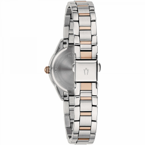 Bulova Sutton, solo tempo bicolore, quadrante argento