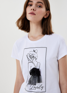 LIU JO JEANS WA1266J5003 T-shirt con applicazioni