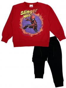Tuta Spiderman bambino rosso 3 4 5 6 7 anni Interno leggero Primavera 2021
