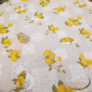 Tovaglia rotonda limoni