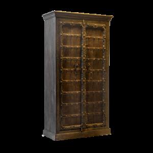 Credenza / Armadio in legno di teak con portale indiano recuperato