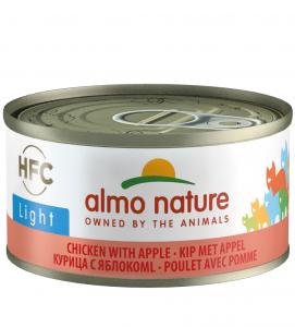 Almo Nature - HFC Cat - Adult - Light - Pollo con Mela - 70g x 24 lattine