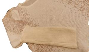 Maglia Maglioncino donna | inserti lurex | colore beige e oro | lana e viscosa |  Made in Italy