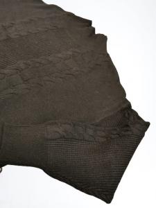 Maglia Maglioncino donna | collo lupetto | colore nero| motivo treccia | lana e viscosa | Made in Italy