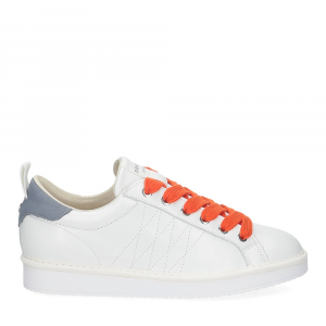 Panchic P01W leather white denim orange-2