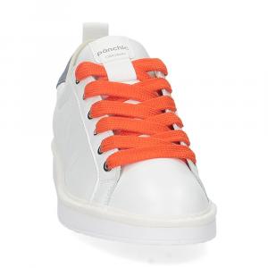 Panchic P01W leather white denim orange-3